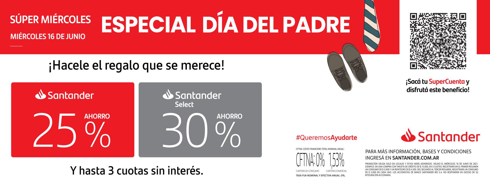 Super Miércoles Santander -Día del Padre