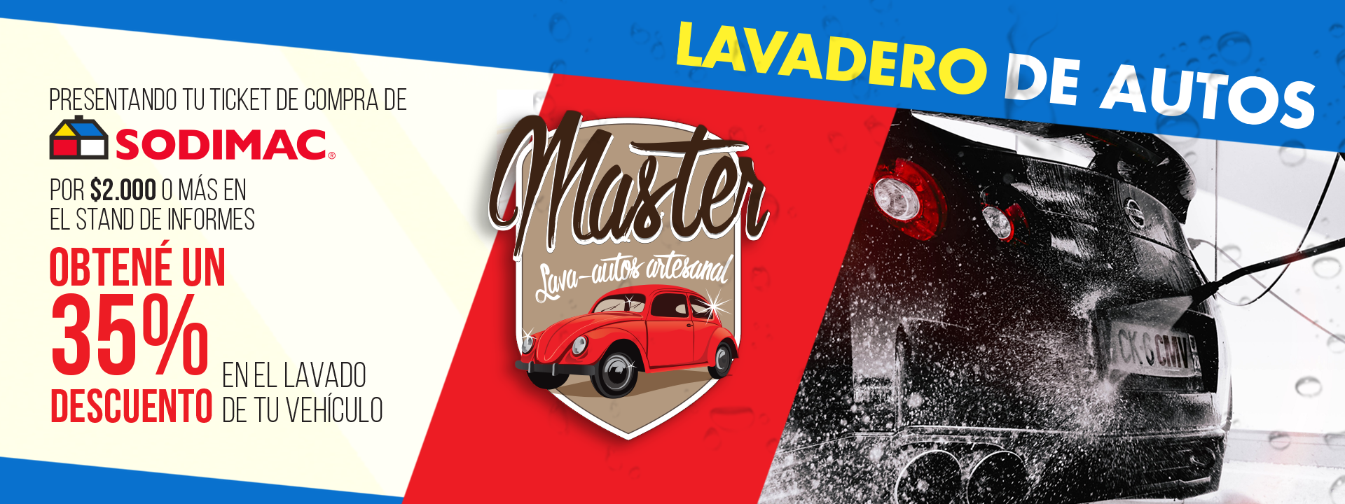 Promoción Master Lavadero y Sodimac